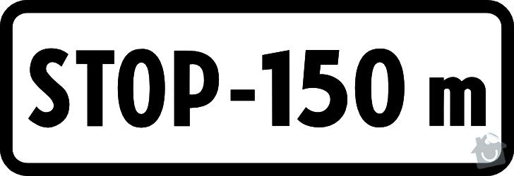 Reklamní cedule / Dodatková tabulka dopravní značky: Příklad dodatkové tabule dopravní značky.
