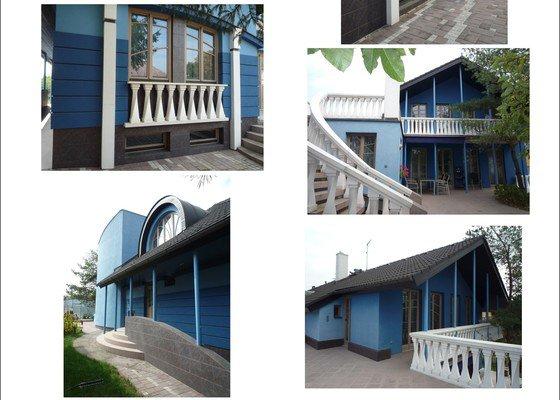 Repase podbití, oprava a nátěr fasády