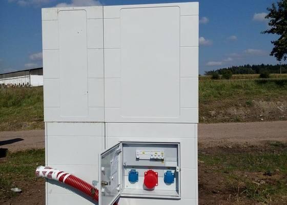 Montáž elektroměrového rozváděče se zásuvkou, Bukovice u Tišnova