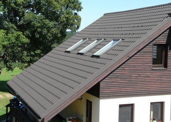 Střecha ocelová krytina imitace tašky