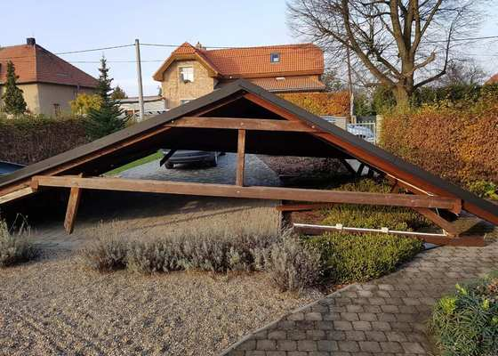 Garážové stání 6x6 m se sedlovou střechou