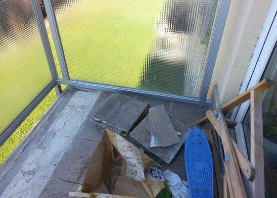 Drobná renovace bytu. Pokládka dlažby balkón a malování