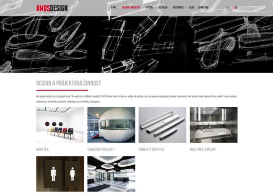 Tvorba webových stránek www.amosdesign.cz