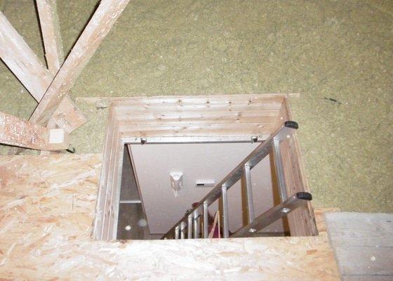 Instalace půdních schodů