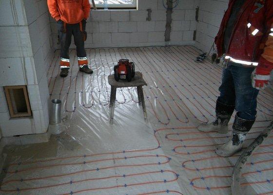 Anhydritová podlaha do novostavby RD