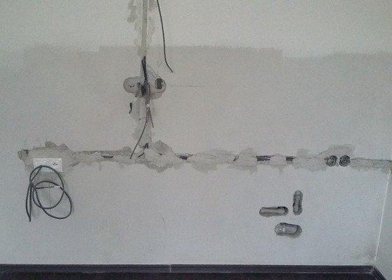 Instalatérské práce - příprava pro novou kuch. linku