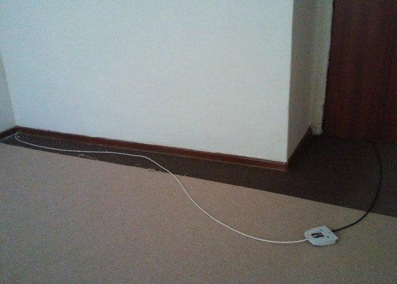 Změna rozvodu elektřiny a internetu, zapojení stropních světel