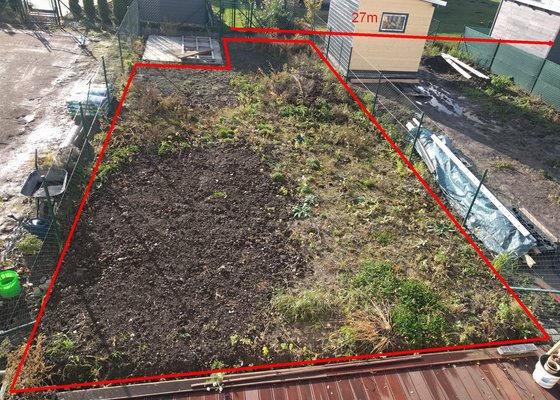 Srovnání terénu zahrady + založení trávníku