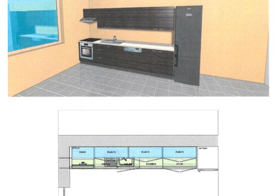 Montáž kuchyně ORESI, včetně spotřebičů