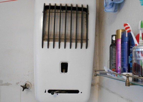Odinstalování plynového průtokového ohřívače (voda-plyn)