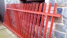 Kovový plot 3000x1100 a sloupky s patkou 1200x100x100 - celkem 18m