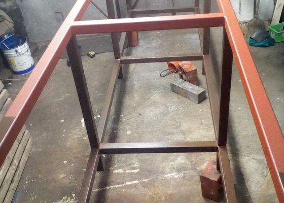 Výroba ocelové konstrukce stojanu pod velké akvárium cca. 1500l