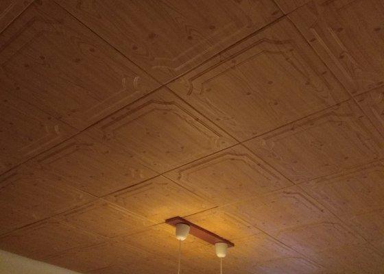 Rekonstrukce stropu v obývacím pokoji