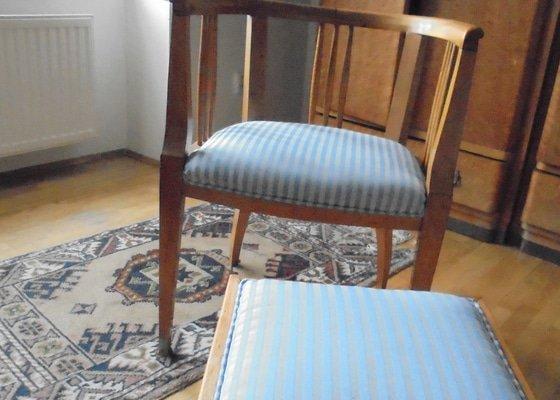 Obnova čalounění na starožitném nábytku