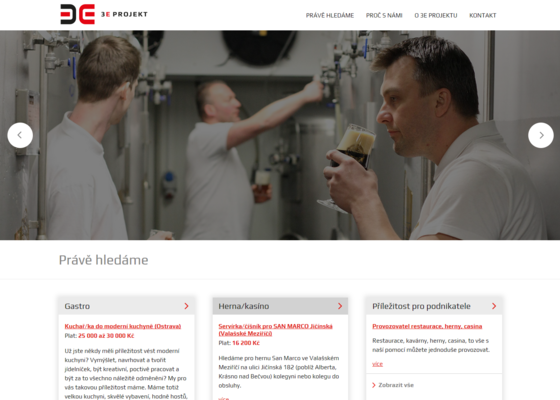 Firemní webová stránka - nabídka pracovních míst