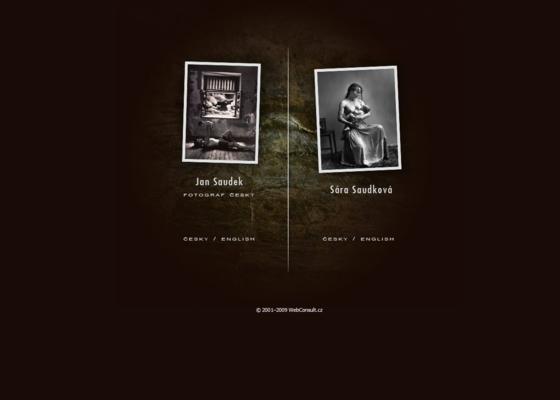 Webová prezentace Jana Saudka a Sáry Saudkové