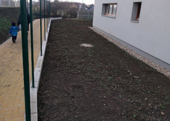Realizace zahrady u novostavby RD (Praha)