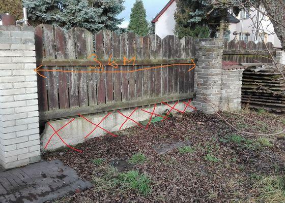 Zhotovení (dočasných) vjezdových vrat na pozemek
