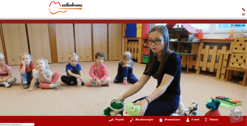 Tvorba webových stránek Muzikodrama.cz: muzikodrama