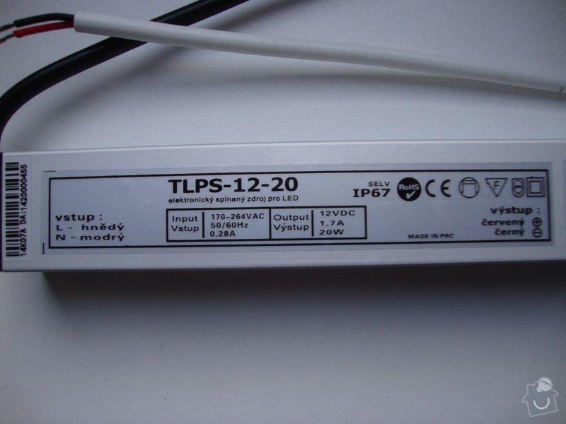 Odstranění zářivky, instalace LED osvětlení, zapojení lustru: LED_2