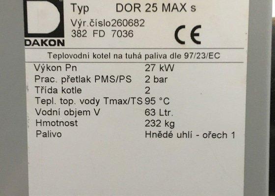 Zapojení kotle na tuhá paliva DAKON DOR 25 MAX