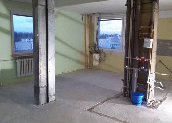 Bourání příček, koupelny, SDK podhledu a odvoz stavební suti