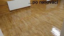 Obnova stávající parketové podlahy