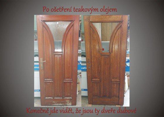 Repase dubových dveří