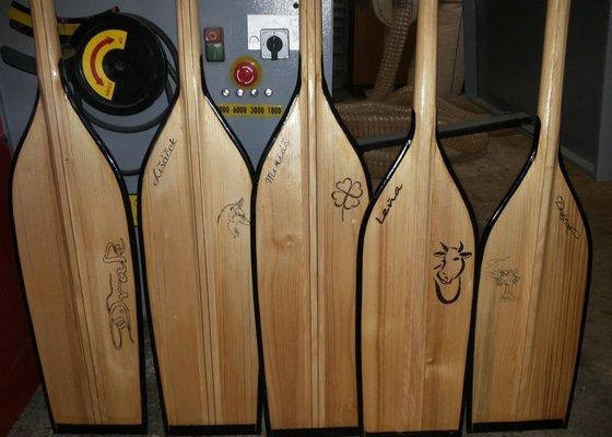 Výroba dřevěných pádel