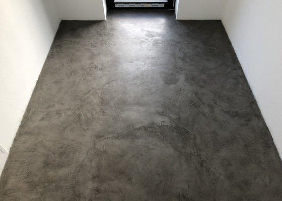Designové povrchy, stěrka podlahy