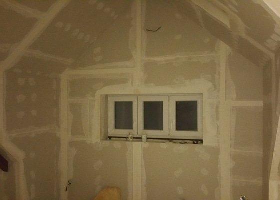 Půdní vestavba, sádrokartony, montáž střešních oken.