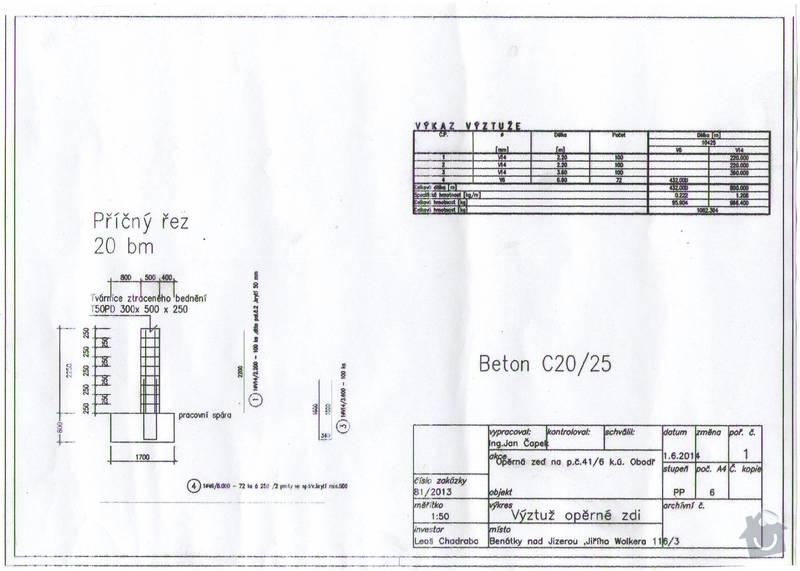 Rekonstrukce Operne Zdi Projektova Dokumentace Vypocet Benatky