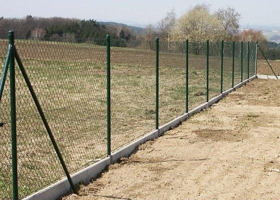 Zadní plot zahrady - pletivo