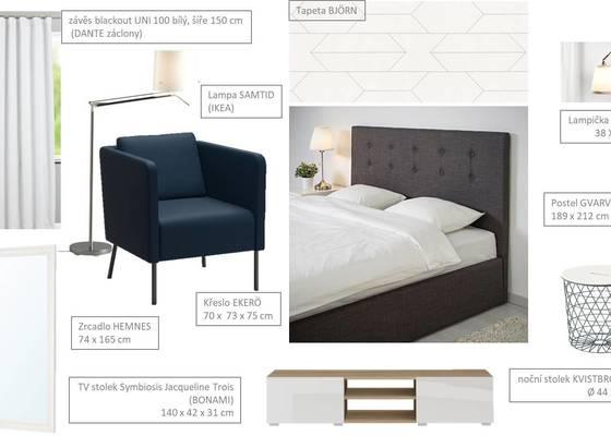 Návrh ložnice s Virtuálním bydlením