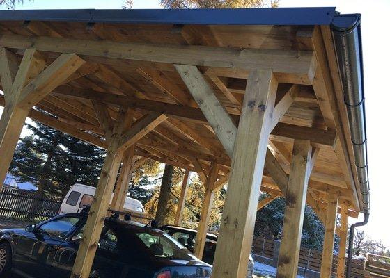 Realizace zahradního stání pro auta
