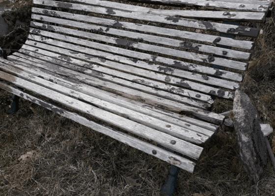 Oprava zahradní lavičky