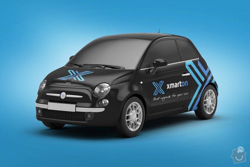 Reklamní polepy na auta: Fiat_500 – Dva vozy.