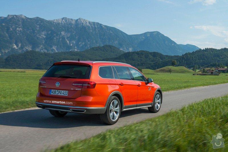 Reklamní polepy na auta: VW - pouze text na zadní nárazník – Jeden vůz.