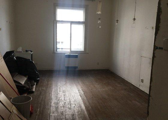 Renovace dřevěné podlahy - 2 místnosti