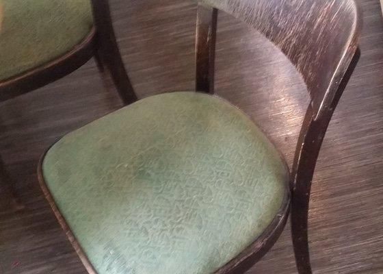 Rekonstrukce židlí + výroba lavice