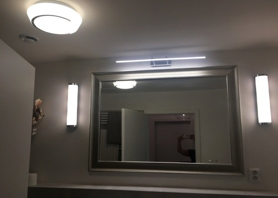 Elektro instalace  světel a nové kabely