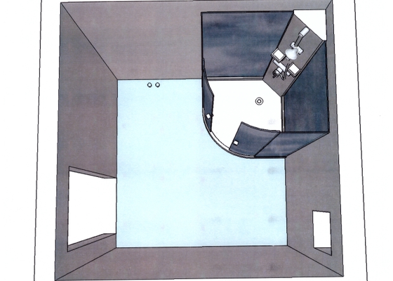 Rekontrukce koupelny a WC v poschodi rodinneho domu