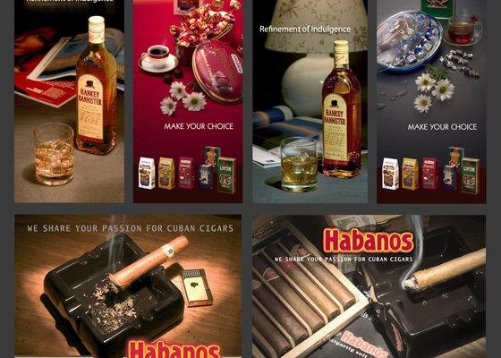Reklamní fotografie pro freeshop ČSA