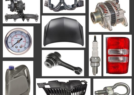 Fotografie automobilových komponentů pro katalog