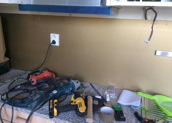 Zapojení varné indukční desky, sekání elektroinstalace
