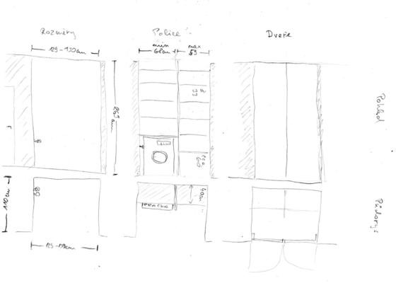 Dveře a police do komory
