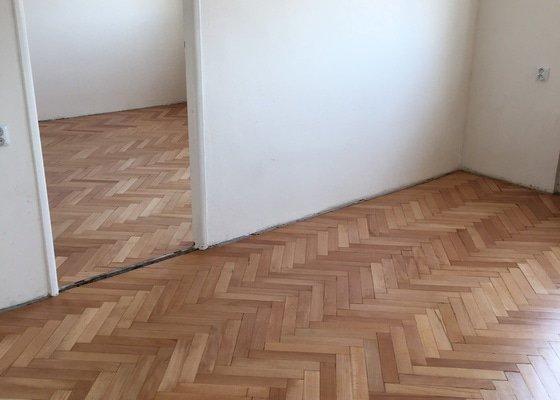 Broušení a lakování parket v bytě (cca 39 m2)