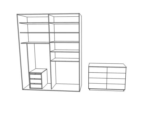 Vestavěná skříň a komoda