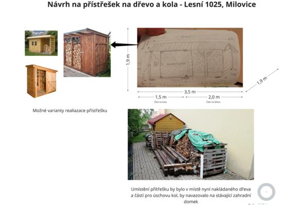 Výstavba dřevěného přístřešku na dřevo s úložným prostorem