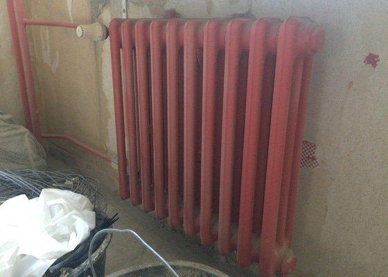 Renovace 4 litinových radiátorů